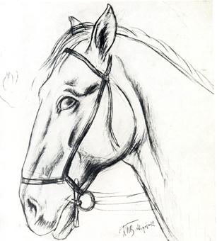 Последний рисунок с коня, выполненный ...: radmuseumart.ru/projects/169/640